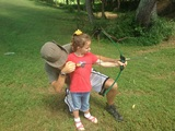 Amelia learns archery!