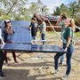 Midland School Photo #9 - Our sophomore class installing our 13th 3-kW solar array on campus during Midland's annual Experiential Week.