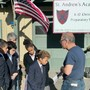 St. Andrew's Academy Photo - Students watching a solar eclipse